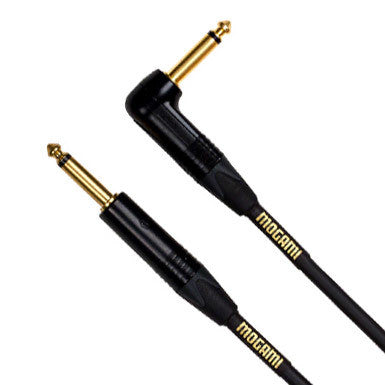 Mogami Gold 18 Foot Straight & Right Angle Instrument Cable