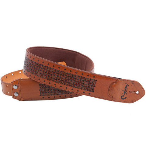 RightOn! Leathercraft Granada Woody Guitar Strap