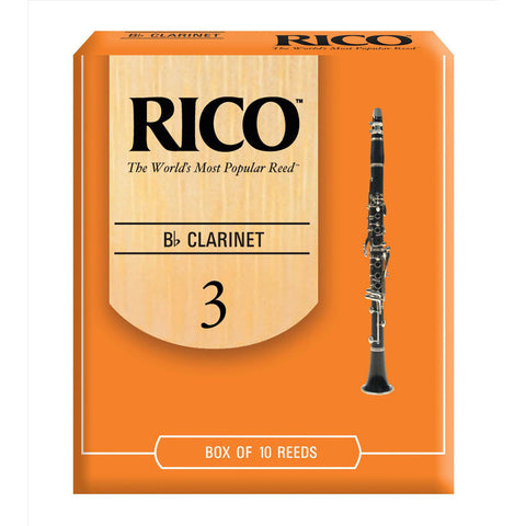Rico RCA1030 Clarinet Reeds Strength 3 Box of 10