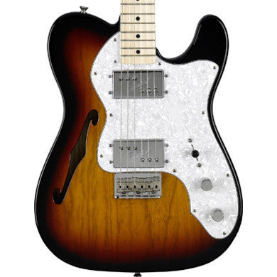 Fender Classic Series' 72 Telecaster Thinline Three Tone Sunburst 0137402300