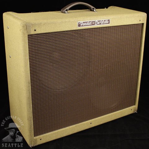 "Used Fender DeVille 2x12"" USA Tweed Combo Guitar Amplifier"