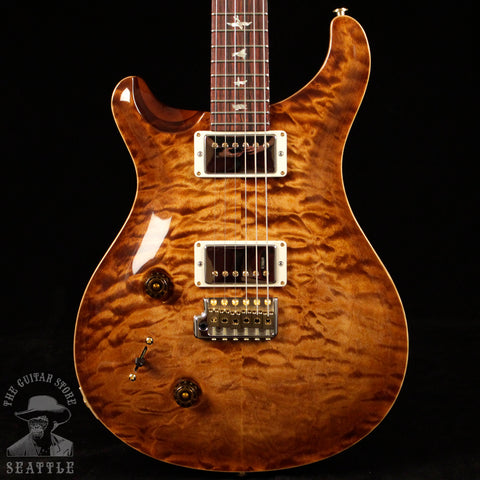 Paul Reed Smith Left-Handed Custom 22 Wood Library 10 Top Quilted Copperhead Burst 243626