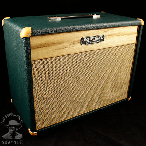 "Mesa Boogie Lone Star 23 1x12"" Guitar Speaker Cabinet Myrtlewood Front Panel Emerald Bronco & Tan Jute Grille"