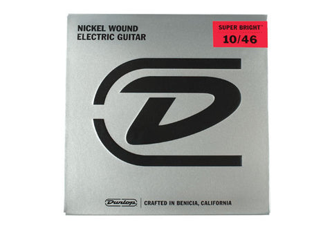 Dunlop Super Bright Nickel Wound Electric Guitar Strings 10-46