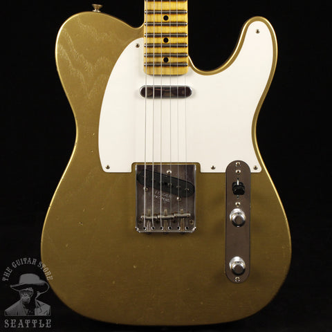 Fender Custom Shop '55 Telecaster Guitar Journeyman Gold CZ530123