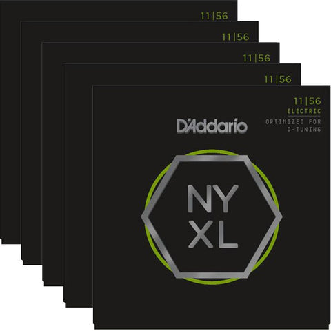 D'Addario NYXL Nickel Wound Medium 11-56 Five-Pack