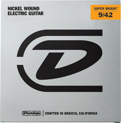 Dunlop Super Bright Nickel Wound Electric Guitar Strings 9-42