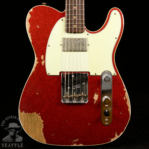 Fender Custom Shop 60s Super Faded Heavy Relic Telecaster Custom Aged Red Sparkle