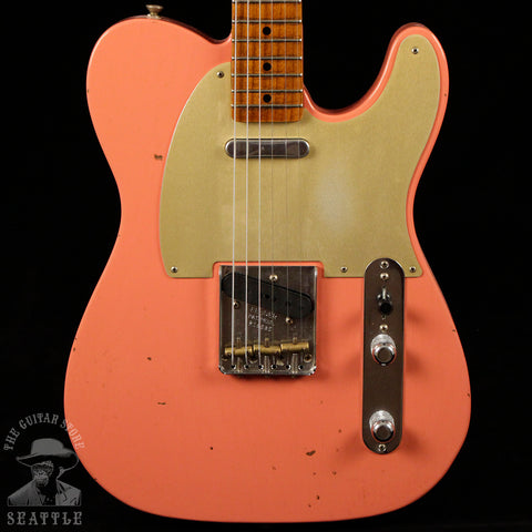 Fender Custom Shop Red Hot Roasted 52 Telecaster Journeyman Faded Tahitian Coral 16685