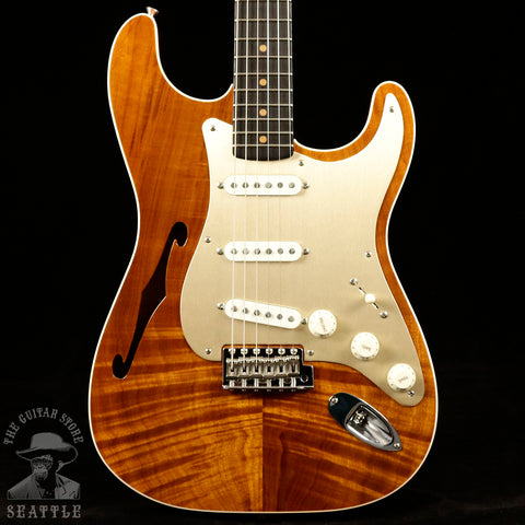 Fender Custom Shop NAMM Limited Artisan Strat Natural Candy Tangerine Back