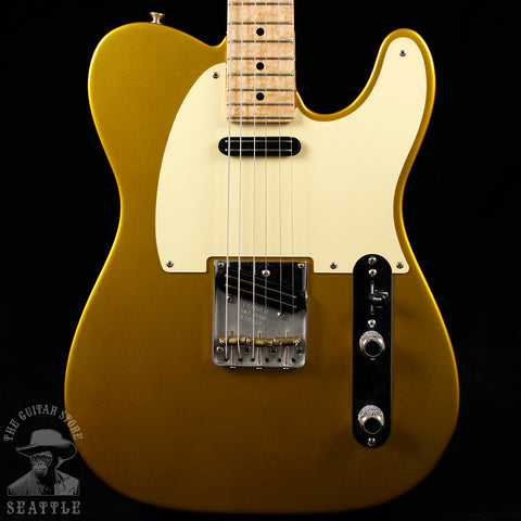 Used Fender Custom Shop Danny Gatton Telecaster w/OHSC Frost Gold Electric Guitar
