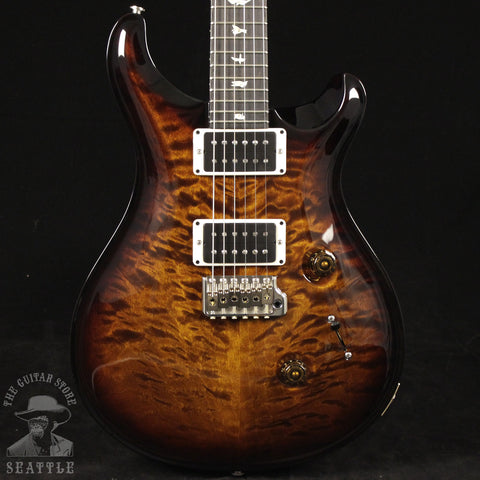 Paul Reed Smith Custom 24 Quilted Maple Mahogany/Ebony Black Gold Burst Ebony Board Electric Guitar 242590