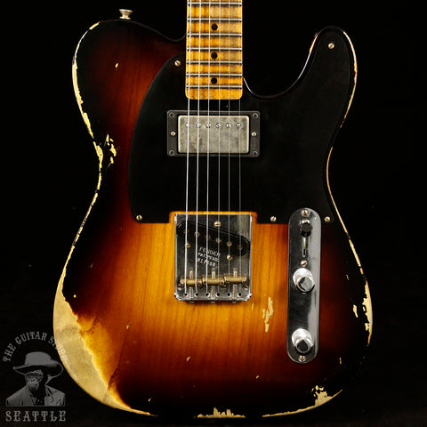 Fender Custom Shop '51 Heavy Relic HS Telecaster Wide Fade Two Tone Sunburst 9235000649