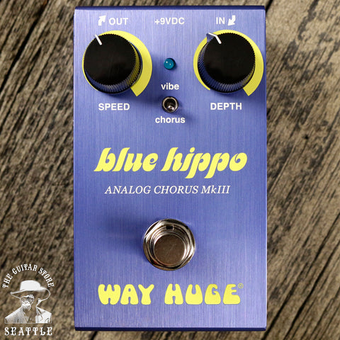 Way Huge WM61 Smalls Mini Blue Hippo Analog Chorus Pedal