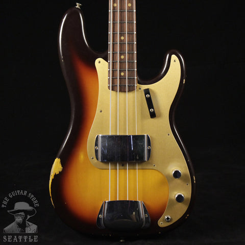 Fender Custom Shop '59 Relic Precision Bass Faded Chocolate Three Tone Sunburst