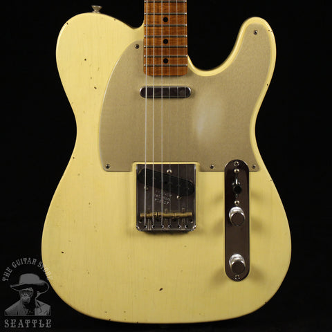Fender Custom Shop Red Hot Roasted Telecaster Journeyman Relic Aged Vintage Wht