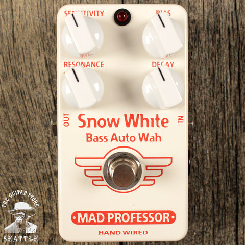 Mad Professor Snow White Bass Auto Wah Pedal Hand-Wired