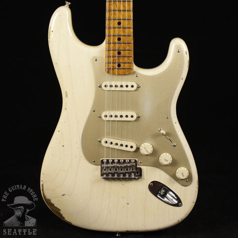 Fender Custom Shop Stratocaster Guitar Roasted Fretboard Relic Aged White Blonde