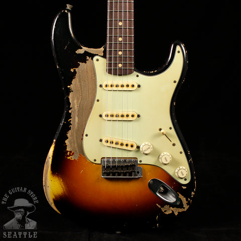 Fender Custom Shop Masterbuilt John Cruz '60 Stratocaster Heavy Relic Three Tone Sunburst Electric Guitar
