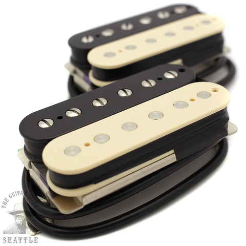 Wolfetone Dr. Vintage Uncovered Zebra Humbucker Set Guitar Pickups