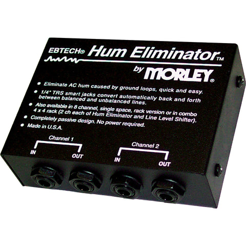 "Ebtech HE-2-XLR Hum Eliminator Two Channel 1/4"" Jacks"