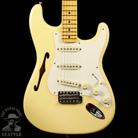 Fender Eric Johnson Signature Thinline Stratocaster Maple Fingerboard Vintage White 0113602741