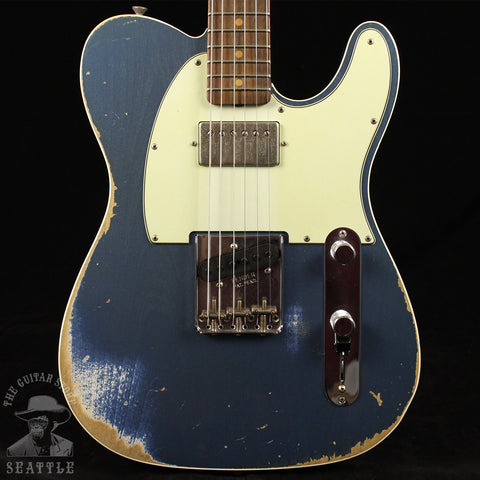 Fender Custom Shop 60s HB Telecaster Journeyman Relic Super Faded Lake Placid