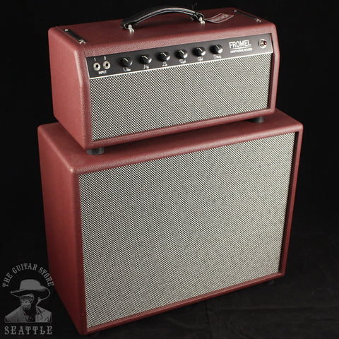 "Fromel Hawthorne Reverb Head and 1x12"" Cabinet Red"