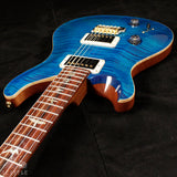 Paul Reed Smith Left-Handed Custom 22 Wood Library 10 Top Flame Aquamarine 242991