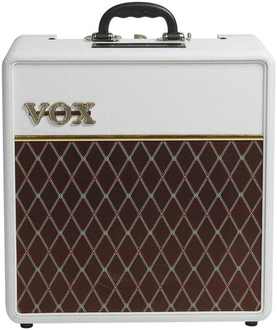 Vox AC4C1‑12 Tube Guitar Combo Amplifier - Limited Edition White Bronco