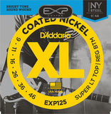 D'Addario EXP125 EXP Coated Nickel Round Wound Super Light Top/Regular Bottom 9-46