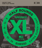 D'Addario EHR330 XL Half Rounds Extra-Super Light 8-39