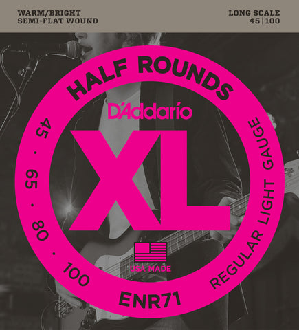 D'Addario ENR71 Half Rounds Bass Regular Light 45-100 Long Scale