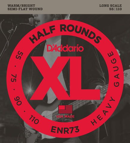 D'Addario ENR73 Half Rounds Bass Heavy 55-110 Long Scale
