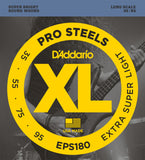 D'Addario EPS180 ProSteels Bass Extra Super Light 35-95 Long Scale