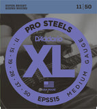 D'Addario EPS515 XL ProSteels Medium 11-50 Round Wound