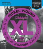 D'Addario EXL120BT XL Nickel Round Wound Balanced Tension Super Light 09-40