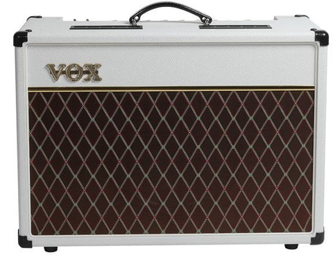 Vox AC15C1 Tube Guitar Combo Amplifier - Limited White Bronco