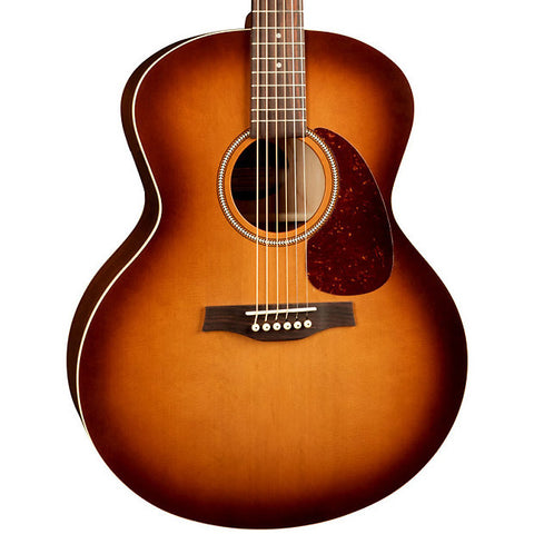 Seagull Entourage Rustic Mini-Jumbo Wild Cherry Solid Cedar Rustic Burst Acoustic Guitar with Gig Bag