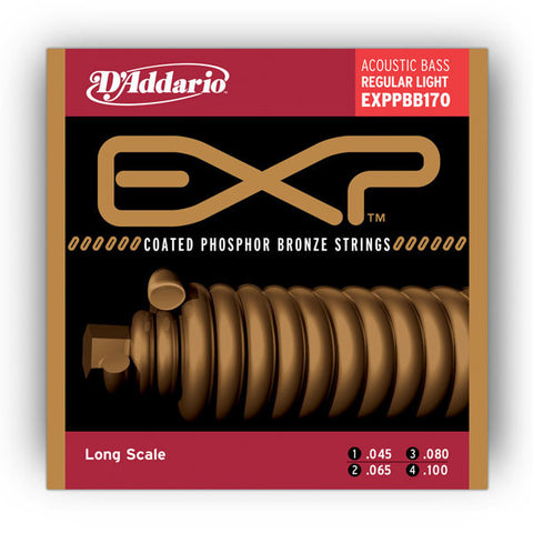 D'Addario EXPPBB170 Coated Phosphor Bronze Acoustic Long Scale 45-100