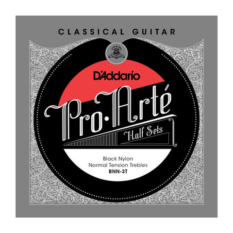 D'Addario Pro-Art?? Black Nylon Treble Half Sets