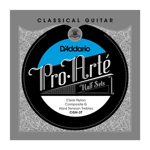 D'Addario Pro-Art?? Clear Nylon with Composite G Treble Half Sets