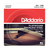 D'Addario EFW74 Flat Wound Mandolin Medium 11-36
