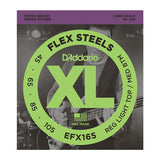 D'Addario EFX165 FlexSteels Bass Custom Light 45-105 Long Scale