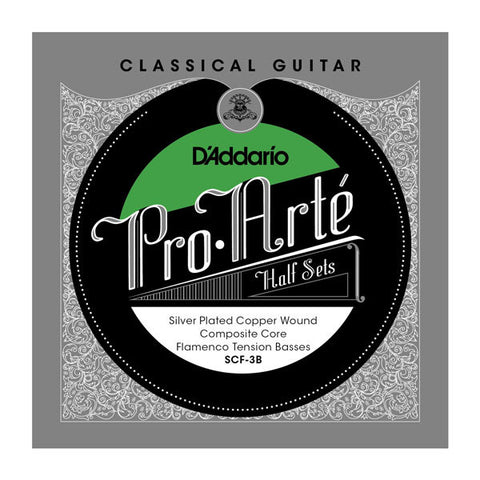 D'Addario Pro-Art?? Composite Core Silver Plated Copper Bass Half Set