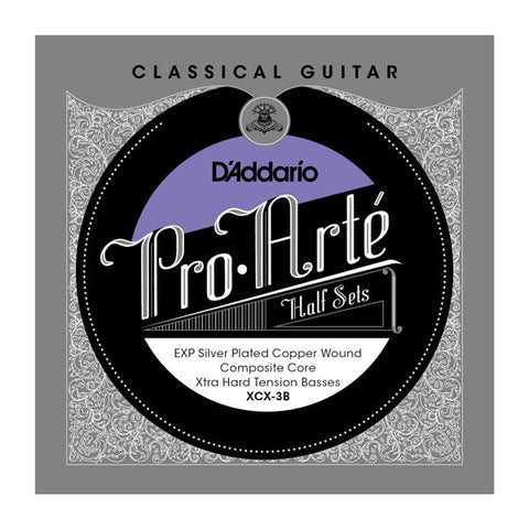 D'Addario Pro-Art?? Nylon Core EXP Coated Silver Plated Copper Bass Half Sets