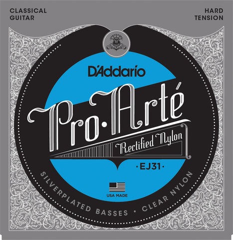 D'Addario EJ31 Pro-Art?? Rectified Trebles Hard Tension