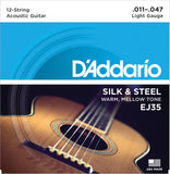D'Addario EJ35 Silk & Steel 12-String Folk 11-47