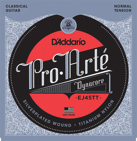 D'Addario EJ45TT Pro-Art?? Dynacore Titanium Trebles Normal Tension