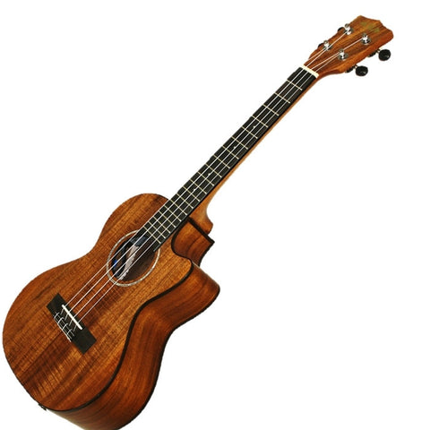 Kala Solid Acacia Top Cutaway Electric